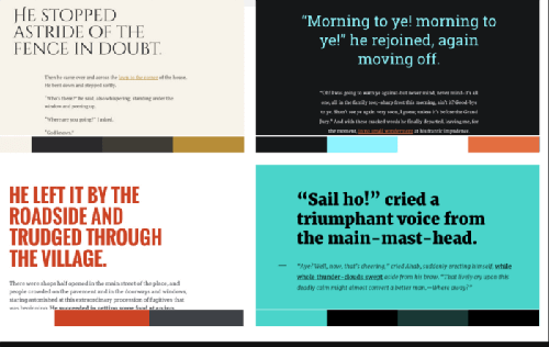 Typeface combinations from Typespiration.