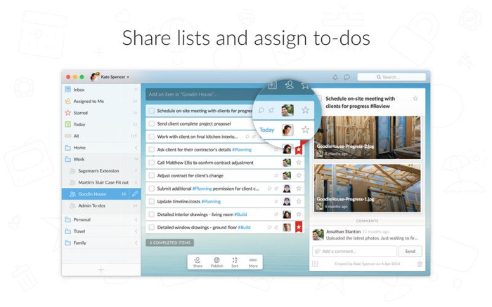 Wunderlist for remote task management