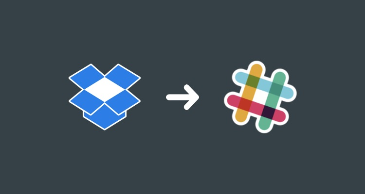 Dropbox to Slack workflow