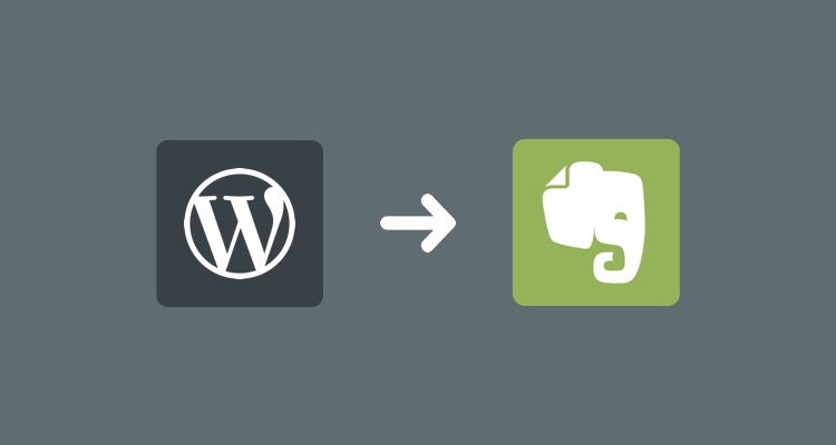 Evernote to WordPress workflow