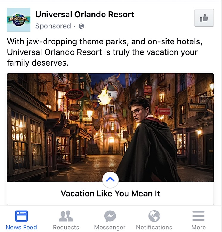 Universal's Canvas Ad