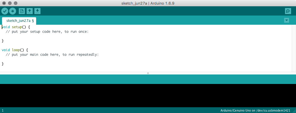 A screenshot of the Arduino IDE