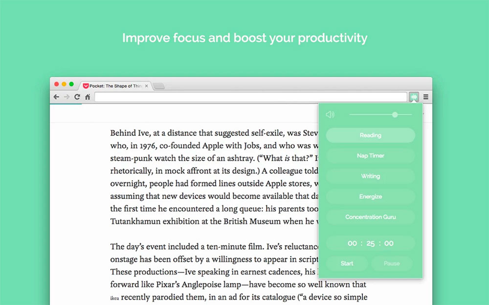 Noisli - Chrome Extensions for Freelancers