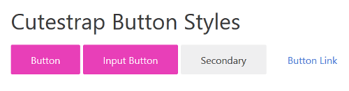 Styles for button elements in Cutestrap framework.