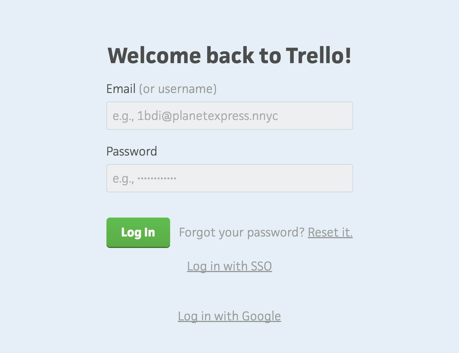 Welcome back to Trello
