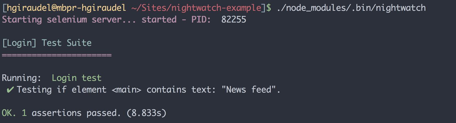 Implementing JavaScript functional testing with Nightwatch.js