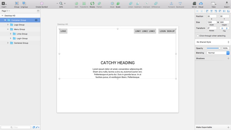 Mocking up low-fidelity designs or wireframes