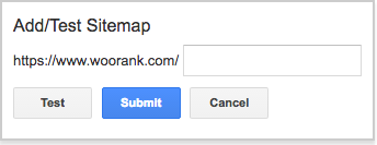 Test sitemap in Google Search Console