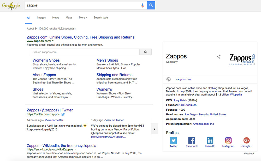 Zappos Knowledge Graph