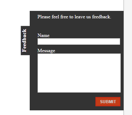 A feedback form widget, which is going to be monkey patched