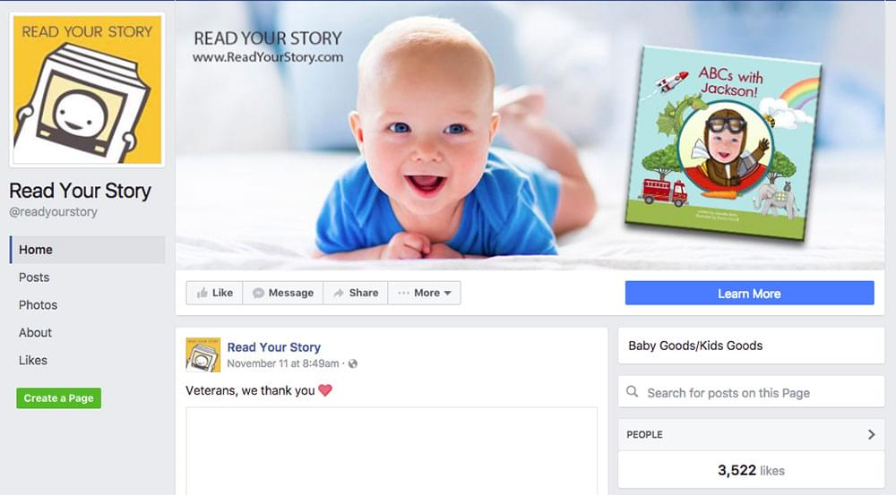 Read Your Story Facebook Page