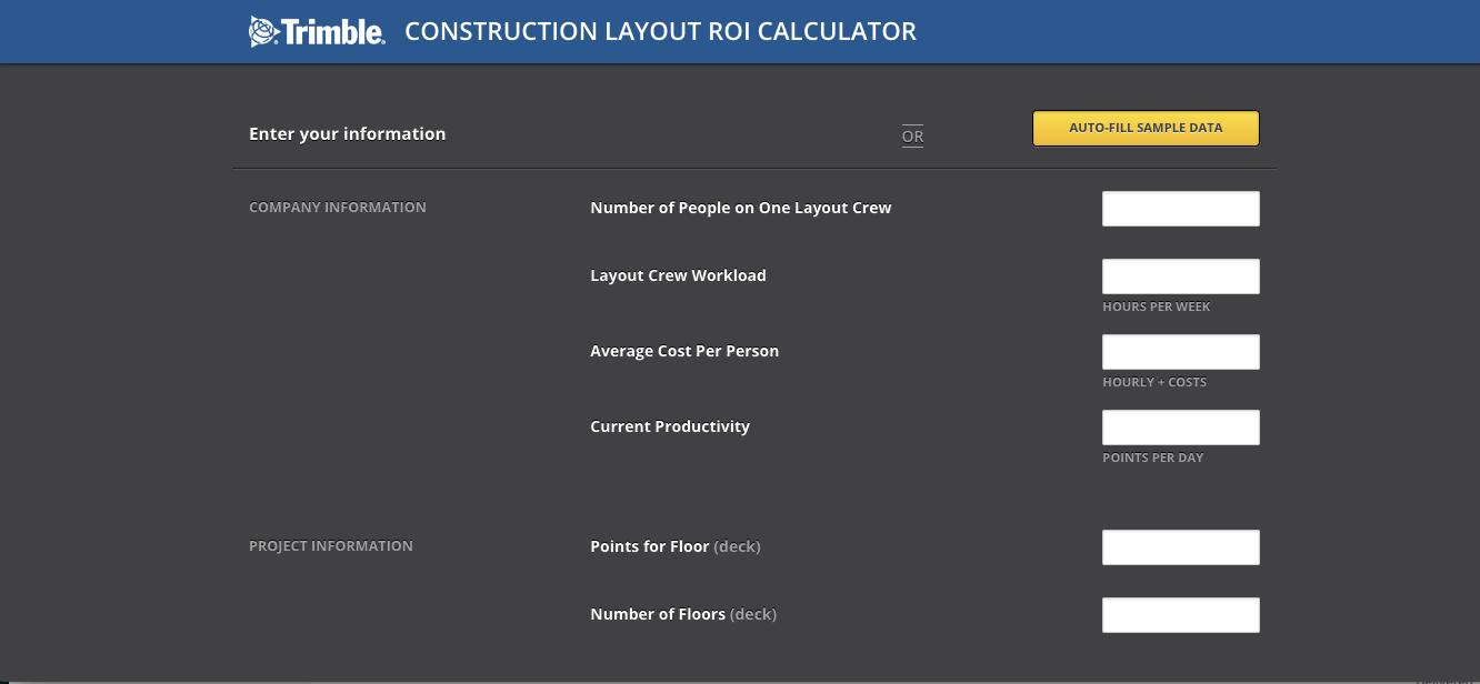 Trimble ROI Calculator