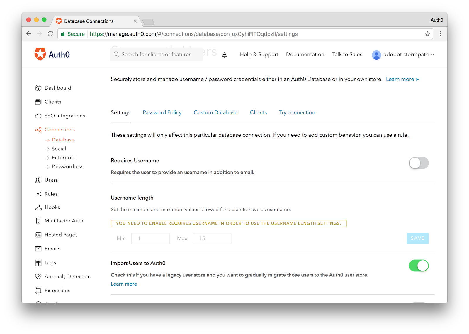 Import to Auth0
