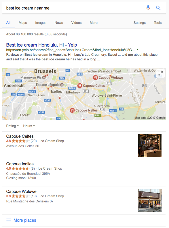 Local pack optimized by semantic markup