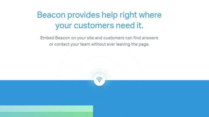 Beacon tool icon on Help Scout website