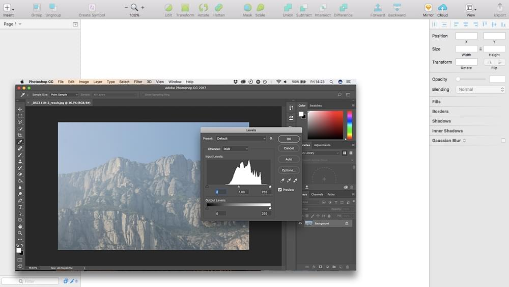 Sketch vs Photoshop, a comparison of interfaces