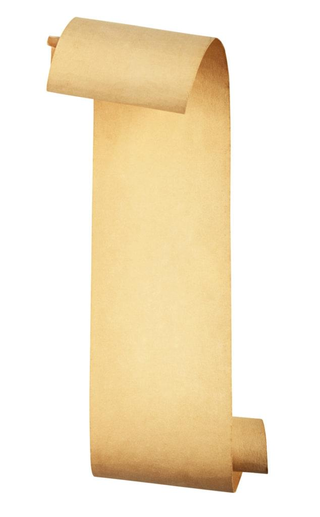 Illustration of a scroll, indicating a long log