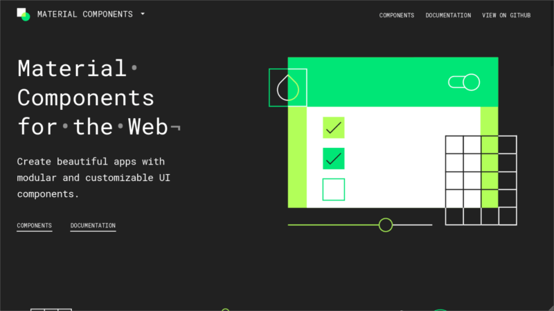 Material Components for the Web CSS Framework