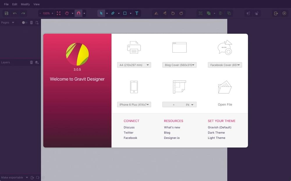 Gravit Designer Chrome Extension