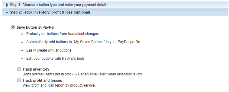 PayPal Button Controls