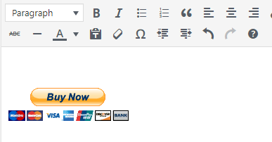 Add PayPal Button in WordPress post