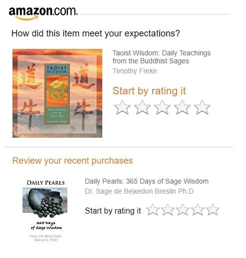 Amazon's rating system