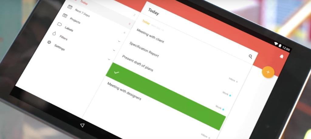 Todoist screen shot