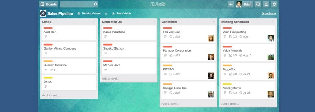 Trello screen shot