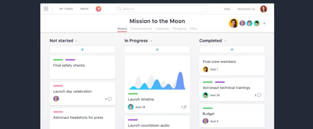 Asana screen shot